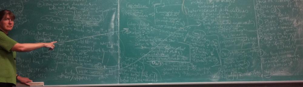 Anne at chalkboard